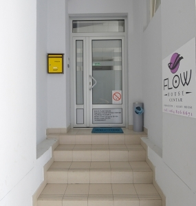 Flow House Hostel entrance